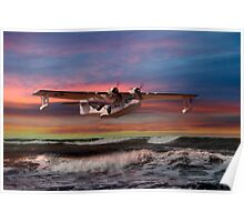 Consolidated PBY-5A at Sunset (US Navy Version) Poster