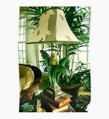 Bird lamp Poster