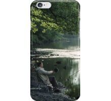Fisherman Ouse Bridge River Derwent Lake District England 198405240019 iPhone Case/Skin