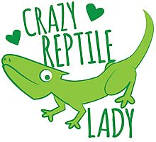 Crazy Lizard reptile Lady 2 Photographic Print