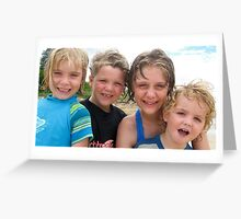 Beach Kids Greeting Card