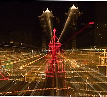 Zooming in on The Plaza Lights by Peggy Lawrey