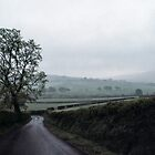 Road down from Caldbeck Fells Cumbria England 198405250006 by Fred Mitchell