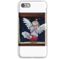 Giggling little red angel iPhone Case/Skin