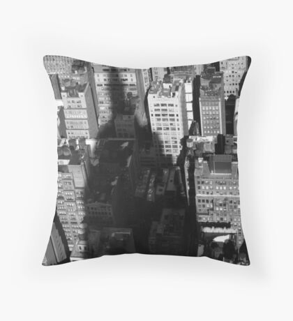 Empire State Building Shadow Throw Pillow