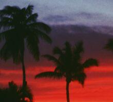 Bahamas Sunset Sticker