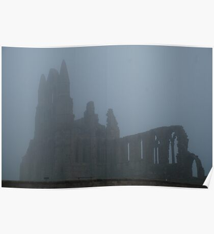 Whitby Abbey in the mist Poster