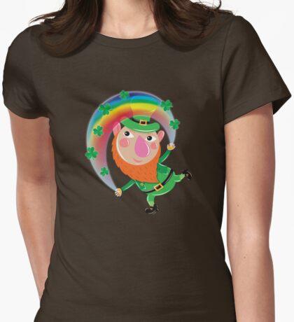 Lucky Leprechaun Womens Fitted T-Shirt