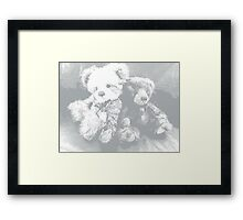 Waiting for hugs Framed Print