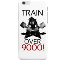 Train over 9000-BW Black Letters iPhone Case/Skin