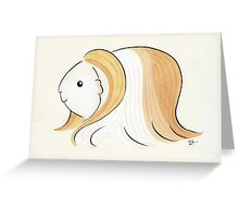 Long Haired Guinea-pig Greeting Card