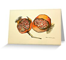 Pomegranate. Pen and wash 2012Ⓒ  Greeting Card