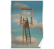 WINDOW CLEANER IN THE SKY Poster