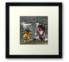 temple children Framed Print