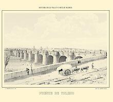 """'Puente De Toledo', Madrid, Spain"" - Yellowed by trebory6"
