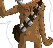 "Star wars Chewbacca ""Laugh it up Fuzzball"" Sticker"