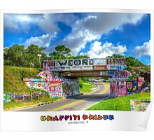 Graffiti Bridge - A Pensacola Landmark (wText) Poster