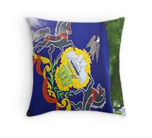 virtue, liberty, and independence Throw Pillow