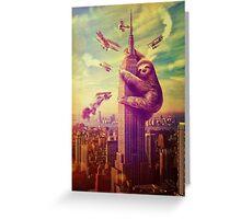 Sloth Kong Greeting Card