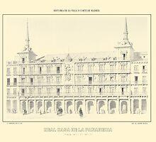"""""""'Real Casa De La Panaderia', Madrid, Spain"""" - Yellowed by trebory6"""