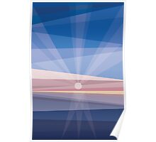Sunrise on shore. Geometric abstract Poster