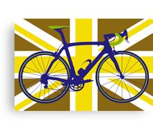 Bike Flag United Kingdom (Gold) (Big - Highlight) Canvas Print
