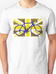 Bike Flag United Kingdom (Gold) (Big - Highlight) T-Shirt