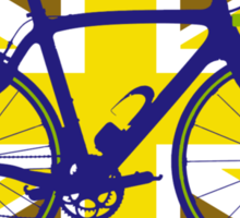 Bike Flag United Kingdom (Gold) (Big - Highlight) Sticker