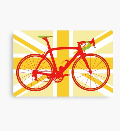 Bike Flag United Kingdom (Yellow) (Big - Highlight) Canvas Print