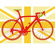 Bike Flag United Kingdom (Yellow) (Big - Highlight) Photographic Print