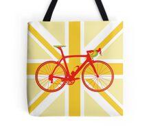 Bike Flag United Kingdom (Yellow) (Big - Highlight) Tote Bag