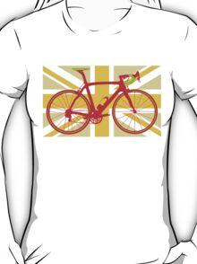 Bike Flag United Kingdom (Yellow) (Big - Highlight) T-Shirt