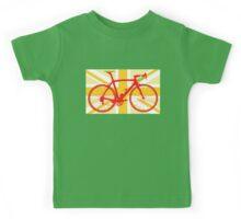 Bike Flag United Kingdom (Yellow) (Big - Highlight) Kids Tee