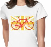 Bike Flag United Kingdom (Yellow) (Big - Highlight) Womens Fitted T-Shirt