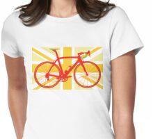 Bike Flag United Kingdom (Yellow) (Big - Highlight) Womens Fitted T-Shirt