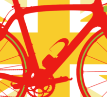 Bike Flag United Kingdom (Yellow) (Big - Highlight) Sticker
