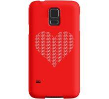 Bike Heart (Red-White) (Small) Samsung Galaxy Case/Skin