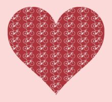 Bike Heart (Red-White) (Small) Kids Clothes