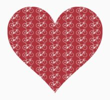 Bike Heart (Red-White) (Small) by sher00