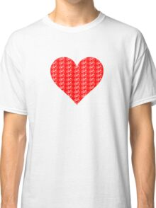 Bike Heart (Red-White) (Small) Classic T-Shirt