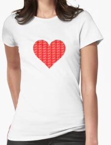Bike Heart (Red-White) (Small) T-Shirt