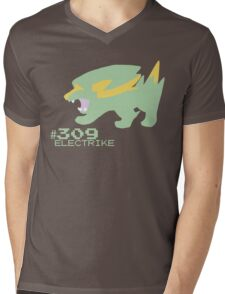 ELECTRIKE! POKEMON Mens V-Neck T-Shirt