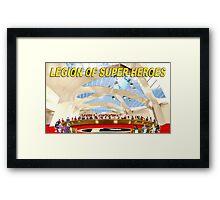 Legion of Super-Heroes Gathering Framed Print