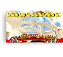 Legion of Super-Heroes Gathering Canvas Print