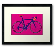 Bike Pop Art (Purple & Orange) Framed Print
