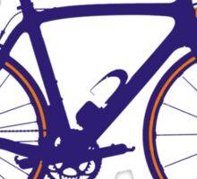 Bike Pop Art (Purple & Orange) Sticker