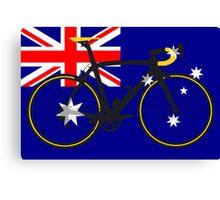 Bike Flag Australia (Big - Highlight) Canvas Print