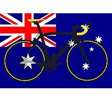Bike Flag Australia (Big - Highlight) Photographic Print
