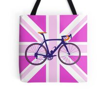 Bike Flag United Kingdom (Pink) (Big - Highlight) Tote Bag