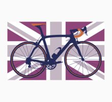 Bike Flag United Kingdom (Pink) (Big - Highlight) T-Shirt
